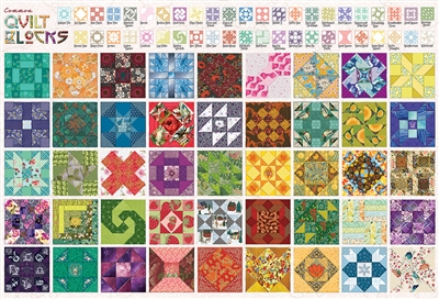 2000pc Quilt Blocks jigsaw puzzle by Cobble Hill Puzzle Co.