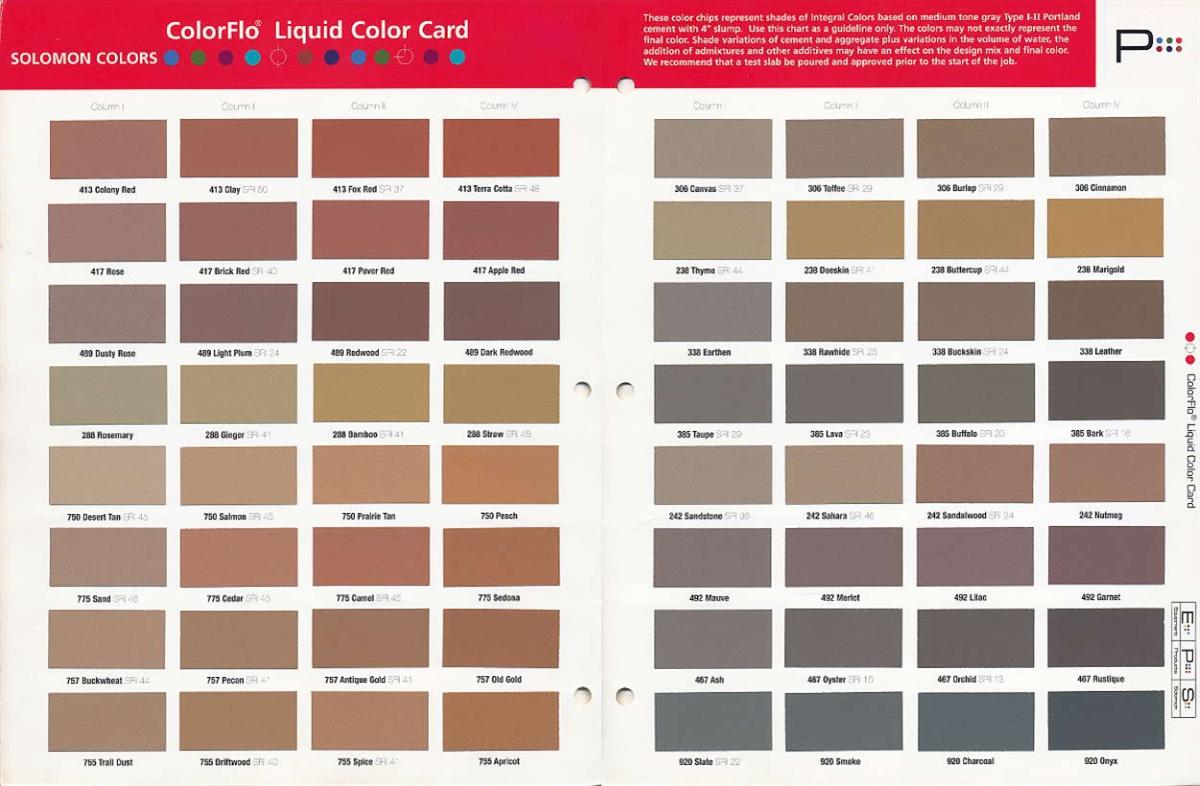 0512df2ee27a Solomon Colors ColorFlo Liquid Color 5-1 2 Sack Mix (1 yd)