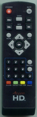 ACCESS RCD001 Genuine  OEM original Remote