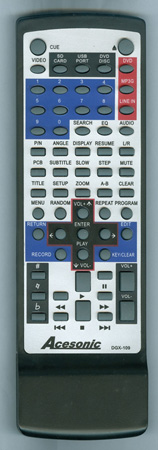 ACESONIC DGX109 Genuine  OEM Original Remote