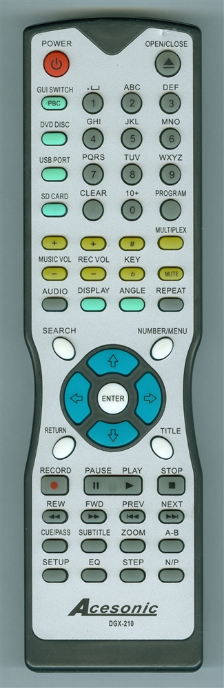 ACESONIC DGX210 Genuine  OEM original Remote