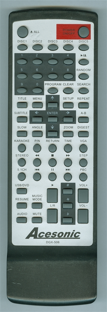 ACESONIC DGX506 Genuine  OEM original Remote