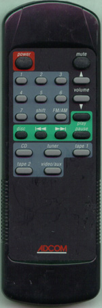 ADCOM RC45II RC45II Genuine  OEM original Remote