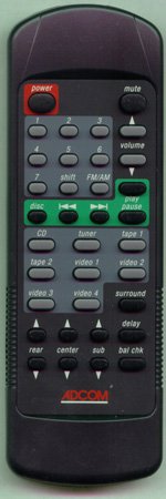 ADCOM RC55 Genuine  OEM original Remote