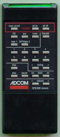 ADCOM RC8 GFB800 Genuine  OEM original Remote
