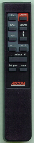 ADCOM RC750 GFP750RC Genuine OEM original Remote