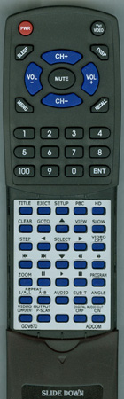 ADCOM GDV870 GDV870 Custom Built Redi Remote