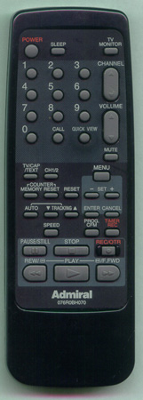 ADMIRAL 62079487 076R0BH070 Genuine  OEM original Remote