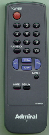 ADMIRAL 62355972 G1347SA Genuine  OEM original Remote