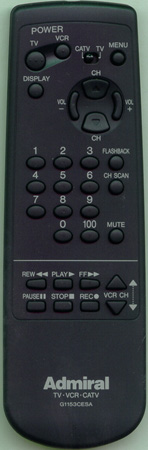 ADMIRAL 64588877 G1153CESA Genuine  OEM original Remote