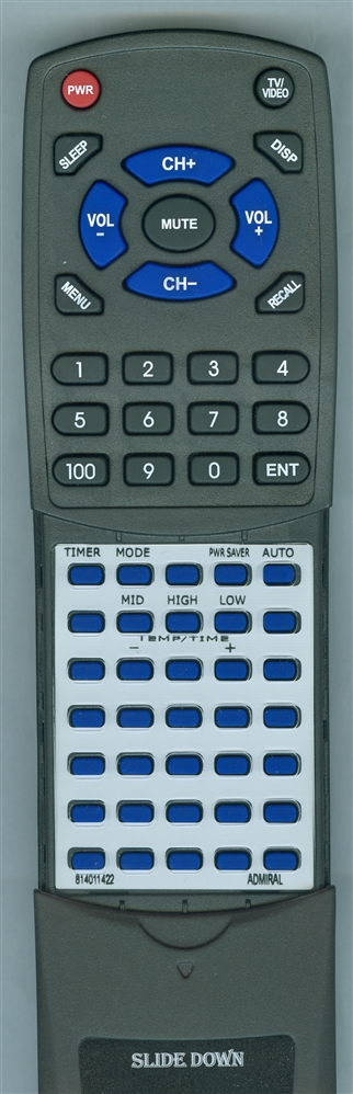 ADMIRAL 814011422 Custom Built Redi Remote