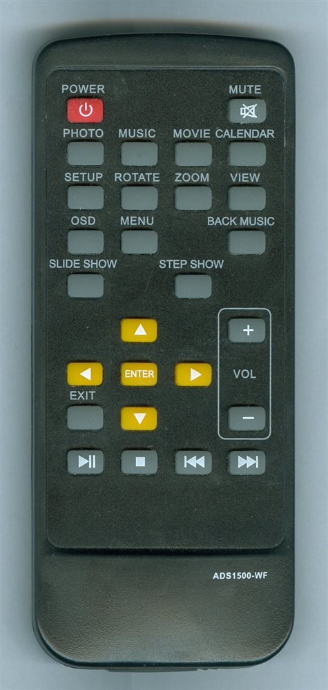 ADS TECH ADS1500-WF Genuine OEM original Remote