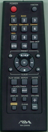 AIWA 1-477-842-31 RMZ20018 Genuine  OEM original Remote