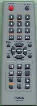 AIWA 1-477-915-11 RMZ20019 Genuine  OEM original Remote