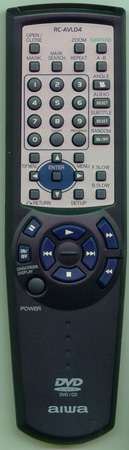 AIWA 5-147-503-89 RCAVL04 Genuine  OEM original Remote