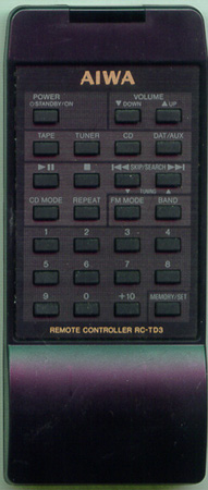 AIWA 81CXC951010 RCTD3 Genuine  OEM original Remote