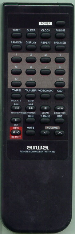AIWA 81MX4663010 RCTN330 Refurbished Genuine OEM Original Remote