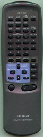 AIWA 82NT3645010 RCTN606 Genuine OEM original Remote
