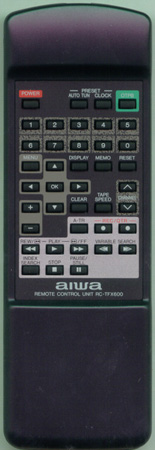 AIWA 85JU3670010 RCTFX600 Genuine  OEM original Remote