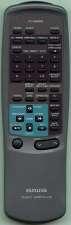 AIWA 86MAP701010 RC6AS02 Genuine  OEM original Remote