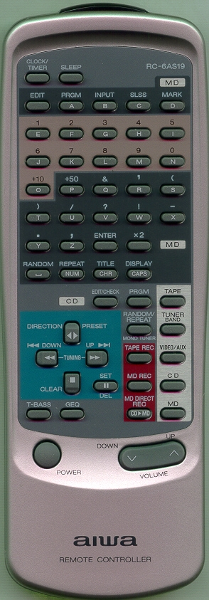 AIWA 87CL1951010 RC6AS19 Refurbished Genuine OEM Original Remote