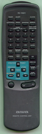 AIWA 87NTM610010 RC7AS11 Genuine  OEM original Remote
