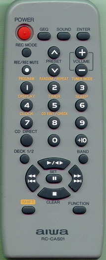 AIWA 8BNF1701010 RCCAS01 Refurbished Genuine OEM Original Remote