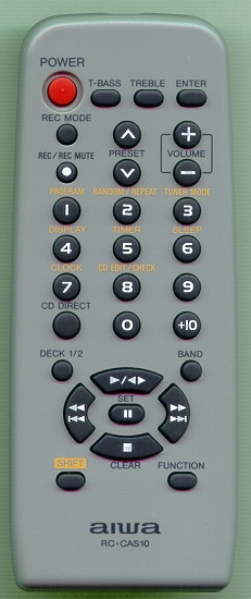 AIWA 8CNF8703010 RCCAS10 Refurbished Genuine OEM Original Remote