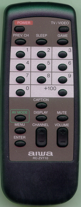 AIWA 8ZJBJ953010 RCZVT10 Refurbished Genuine OEM Original Remote