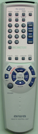 AIWA 8ZMA1702010 RCZAS12 Genuine  OEM original Remote
