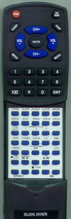 AIWA 5-147-501-68 RCTN400EX Custom Built Redi Remote