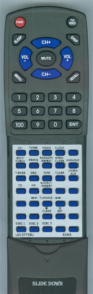 AIWA 87NF4655010 Custom Built  Redi Remote