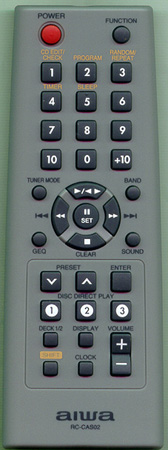 AIWA U-0006-114-U RCCAS02 Genuine  OEM original Remote