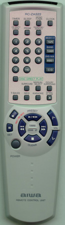 AIWA 8ZNFD702010 RC-ZAS22 Genuine  OEM original Remote