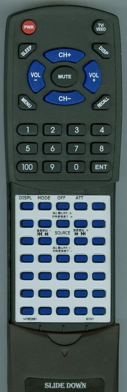AIWA 1-476-526-51 RM-Z304 Custom Built Redi Remote