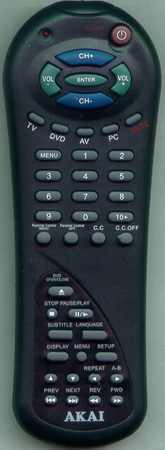 AKAI CFTD1529B Genuine  OEM original Remote