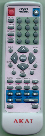 AKAI DVDP5851 Genuine  OEM original Remote
