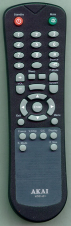 AKAI E7501-056002 KC01D1 Genuine OEM original Remote