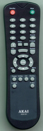 AKAI E7501-058001 KC01D1 Genuine  OEM original Remote