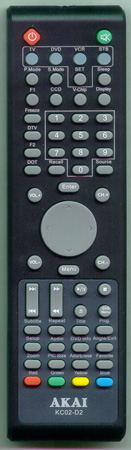 AKAI GE7501-063002A KC02D2 Genuine  OEM original Remote