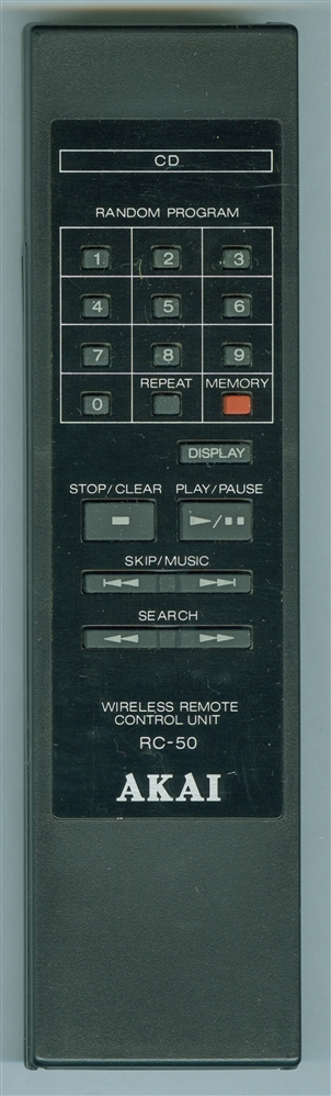 AKAI RC-50 AKAI RC50 Genuine  OEM original Remote