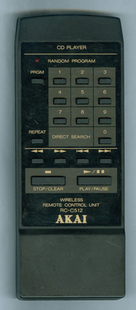 AKAI RC-C512 RCC512 Genuine  OEM original Remote