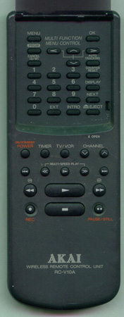 AKAI RC-V10A RCV10A Genuine  OEM original Remote