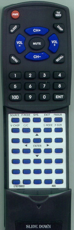 AKAI E7501-056002 KC01D1 Custom Built Redi Remote