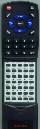 AKAI E7501-061002 KC02B2 Custom Built Redi Remote