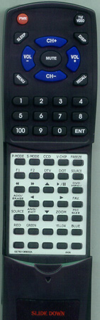 AKAI GE7501-063002A KC02D2 Custom Built Redi Remote
