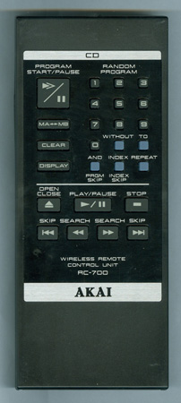 AKAI RC-700 Genuine OEM original Remote