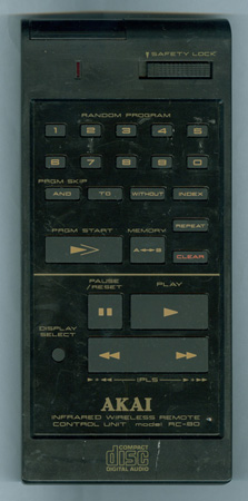 AKAI RC-80 Genuine OEM Original Remote