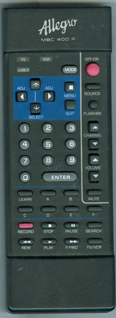 ALLEGRO 124-00191-07 MBC400P Genuine  OEM original Remote