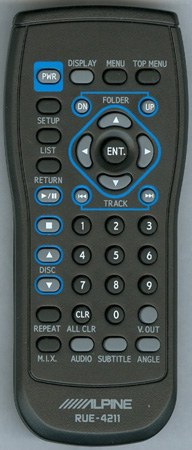 ALPINE 97-11355Z01 RUE-4211 Genuine OEM original Remote